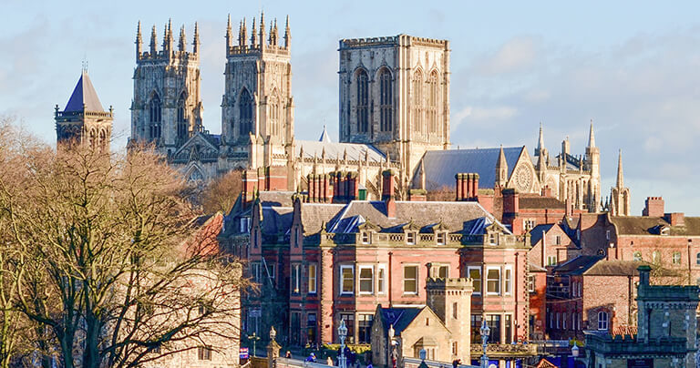 Vista aérea de York